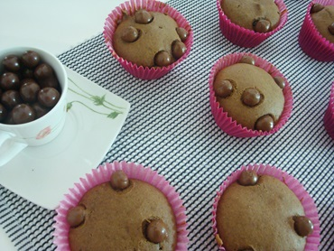 muffin de chocolate com recheio de nutella
